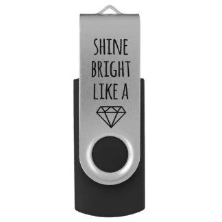 Glanz hell wie ein Diamant USB-Antrieb USB Stick