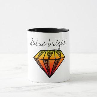Glanz-Leuchtorange Tasse