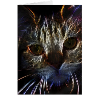 Glänzende Kitty-Katzen-glänzende Karte
