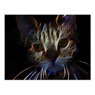 Glänzende Kitty-Katzen-glänzende Postkarte