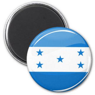 Glänzende runde honduranische Flagge Runder Magnet 5,1 Cm