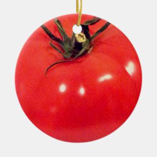 Glänzende Tomate 4Sullivan Rundes Keramik Ornament