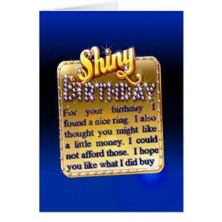 Glänzender Geburtstag Karte