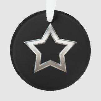 Glänzender silberner ornament