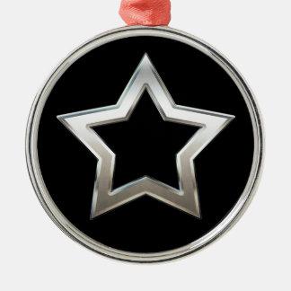 Glänzender silberner silbernes ornament