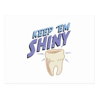 Glänzender Zahn Postkarte