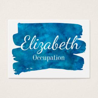 Glänzendes blaues Aquarell-Spritzen Jumbo-Visitenkarten