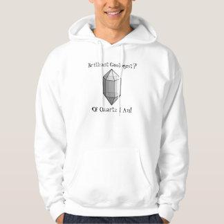 Glänzendes Geologe-Quarz-Wortspiel-Shirt Hoodie