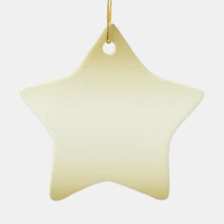 Glänzendes glänzendes Golddoppeltes versah mit Keramik Ornament
