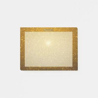 Glänzendes Gold Post-it Klebezettel
