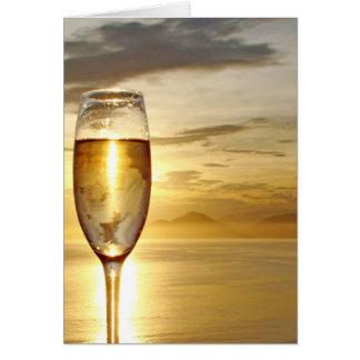 Glas Champagner Karte
