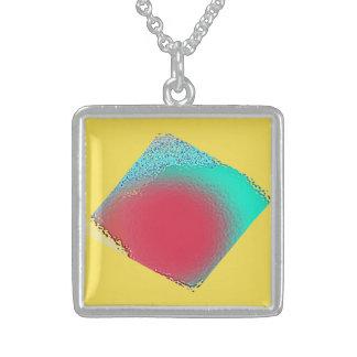 Glaseffekt-Anhänger Sterling Silberkette