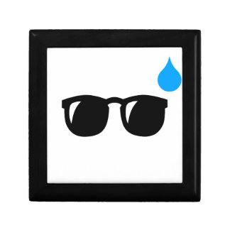 Gläser verschwitzt kleine quadratische schatulle
