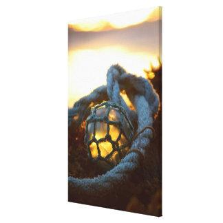 Glasfloss glüht am Sonnenuntergang, Alaska Leinwanddruck