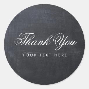 Glatte einfache elegante moderne Tafel danken Runder Aufkleber