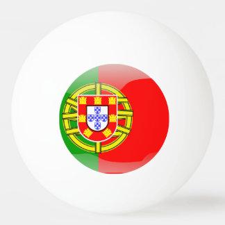 Glatte Flagge Portugals Tischtennis Ball