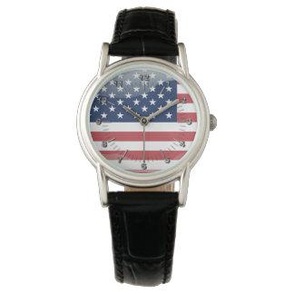 Glatte Flagge USA Uhr