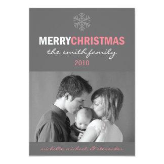 Glatte frohe Weihnacht-Karten-Schneeflocke 12,7 X 17,8 Cm Einladungskarte