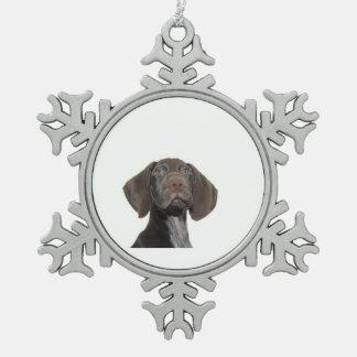 Glatte Graubär-Weihnachtsverzierung Schneeflocken Zinn-Ornament