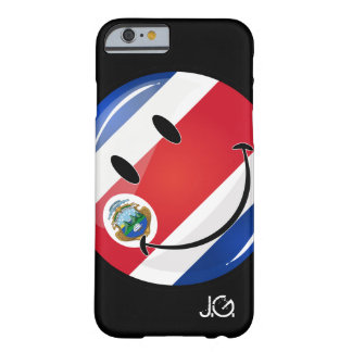Glatte runde Costa Rican Flagge Barely There iPhone 6 Hülle