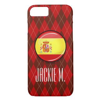 Glatte runde Flagge von Spanien iPhone 8/7 Hülle