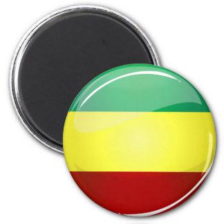 Glatte runde Rasta Flagge Runder Magnet 5,1 Cm
