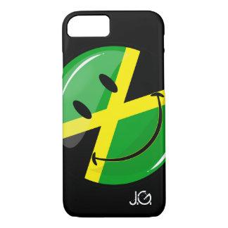 Glatte Runden-lächelnde jamaikanische Flagge iPhone 8/7 Hülle