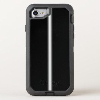 Glatte Vertikale verblaßte weißer Streifen auf OtterBox Defender iPhone 8/7 Hülle