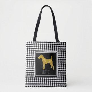 Glattes Fox-Terrier-Hahnentrittmuster