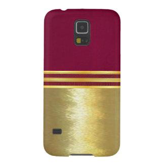 Glattes Gold und magentaroter Samsung Galaxy S5 Cover