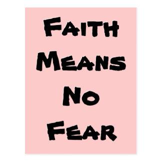 Glaube bedeutet keine Furcht (Inselbewohner) Postkarte