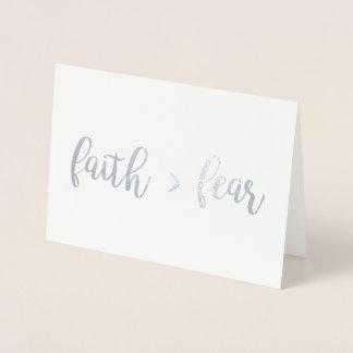Glaube > Furcht Folienkarte