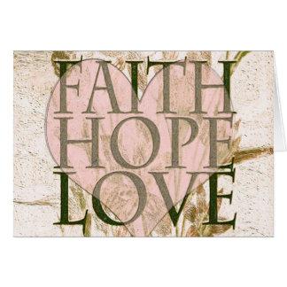 Glaube, Hoffnung und Liebe Mitteilungskarte