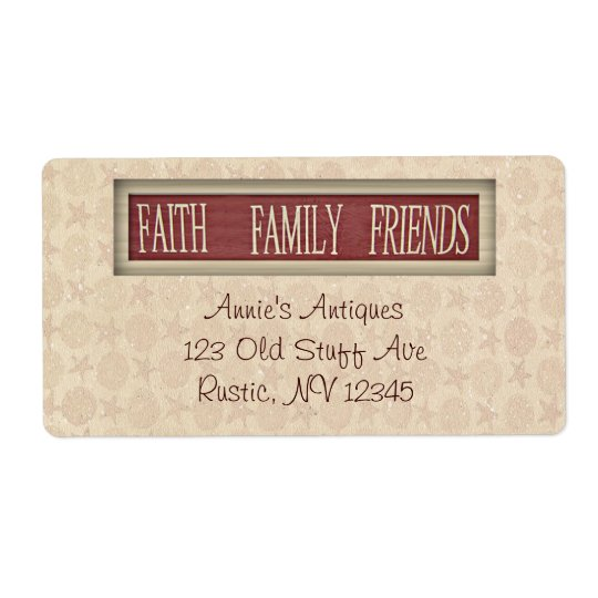 Glauben-Familien-Freund-Geschäfts-Aufkleber Großer Adressaufkleber
