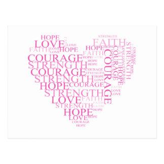 Glauben-Hoffnungs-Herz-Postkarte Postkarte