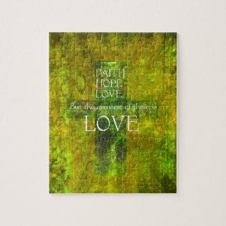 Glauben-Hoffnungs-Liebe-Bibel-Vers Puzzle