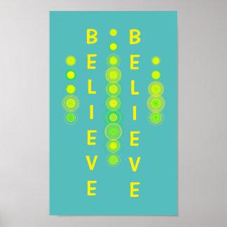 Glauben Sie abstrakte Kunst-motivierend Plakat