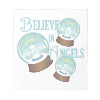 Glauben Sie an Engel Notizblock
