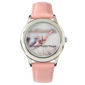 Glauben Sie Glauben-Hoffnungs-Uhr Uhr