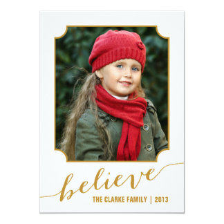 Glauben Sie Gold der Feiertags-Foto-Karten-  12,7 X 17,8 Cm Einladungskarte