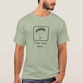 Gleitschirmfliegen -- Graues Logo -- Kundengerecht T-Shirt