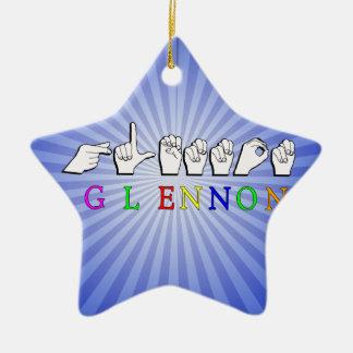 GLENNON NAMENSzeichen FINGERSPELLED ASL Keramik Ornament