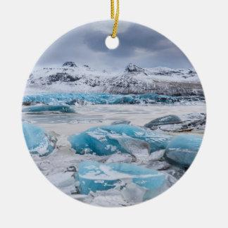 Gletscher-Eislandschaft, Island Keramik Ornament
