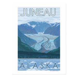 Gletscher-Szene - Juneau, Alaska Postkarte