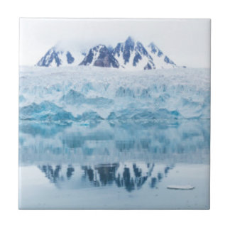 Gletscherreflexionen, Norwegen Kleine Quadratische Fliese