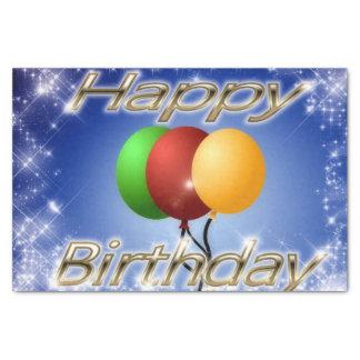Glitter-alles Gute zum Geburtstag mit Ballonen Seidenpapier
