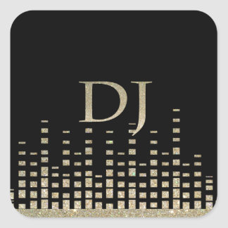 Glitter DJ-Aufkleber Quadrat-Aufkleber