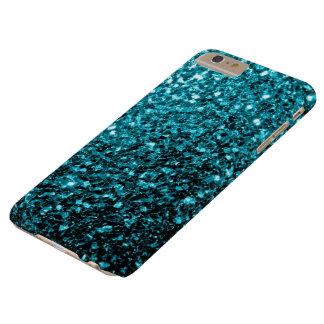 Glitter-Glitzern iPhone 6 des Aqua blaue Plusfall Barely There iPhone 6 Plus Hülle