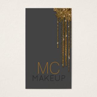 Glitter-goldene polnische visitenkarten