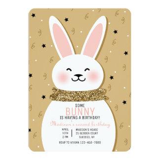 Glitter-Häschen-Einladung 12,7 X 17,8 Cm Einladungskarte